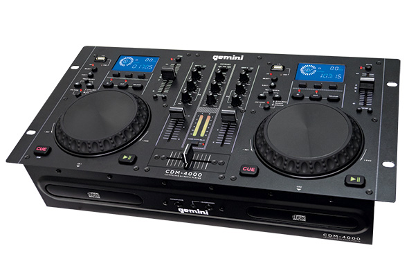 GEMINI prehrávač, Dual CD / MP3, USB, Mixer, Pitch