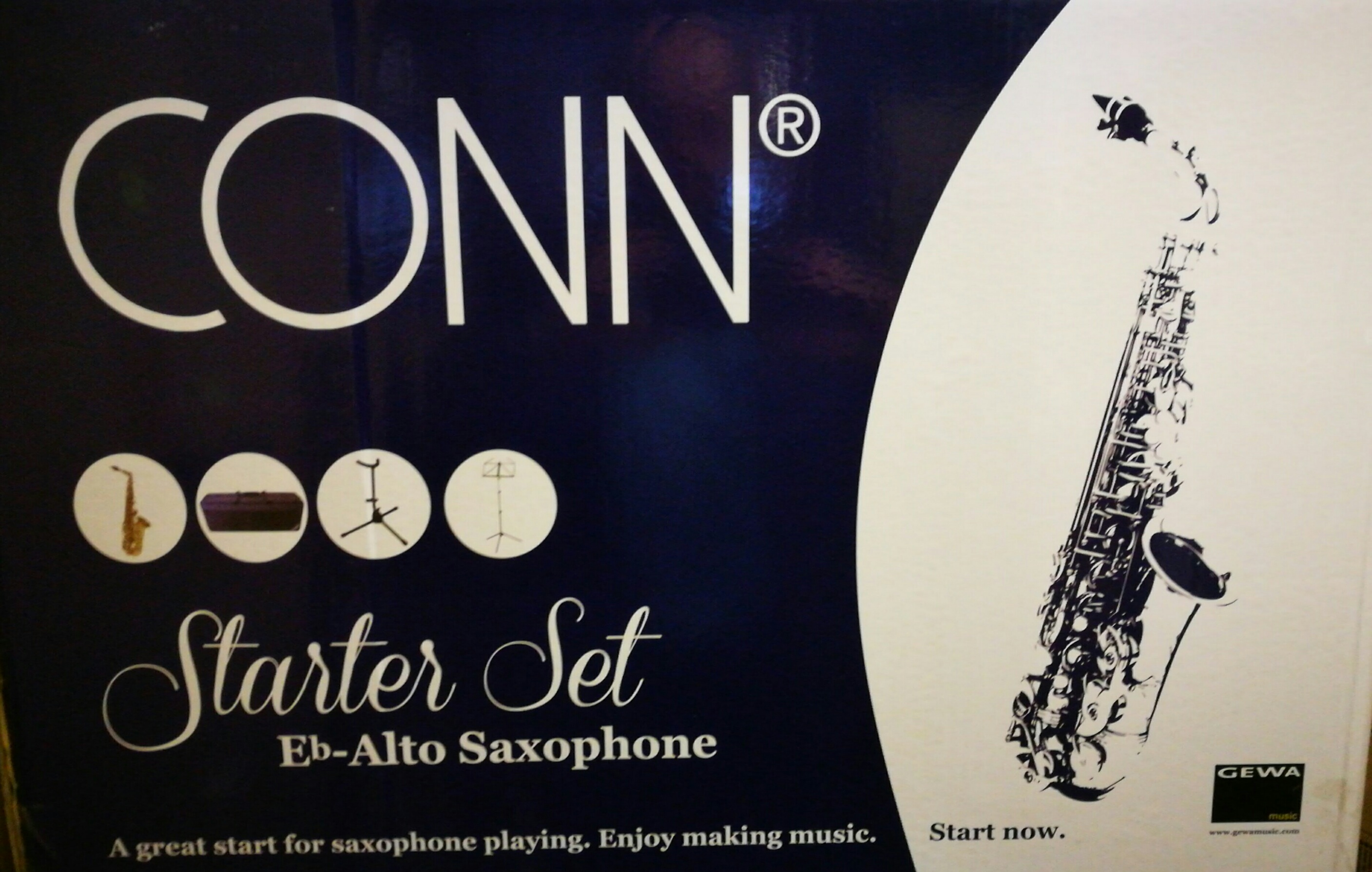 Alt saxofón AS 710 Starter set Conn